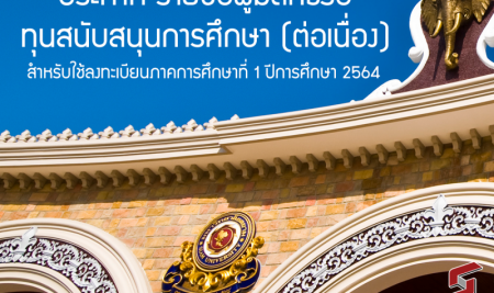 ประกาศสำนักรับนักศึกษาฯ  มหาวิทยาลัยสยาม เรื่อง รายชื่อผู้มีสิทธิ์รับทุนสนับสนุนการศึกษา (ต่อเนื่อง)  สำหรับใช้ลงทะเบียนภาคการศึกษาที่ 1 ปีการศึกษา 2564